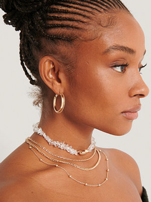 NA-KD Accessories smycke Multilayered Shell Detail Necklace guld