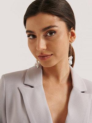 NA-KD Accessories smycke Pärlörhängen Med Dubbla Hängen guld