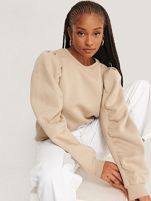 NA-KD Trend Sweatshirt Med Lång Ärm beige
