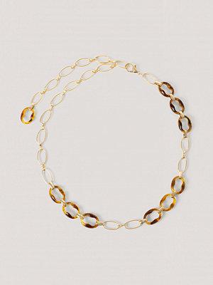 NA-KD Accessories Chunky Kedjebälte Med Sköldpaddsdetaljer guld