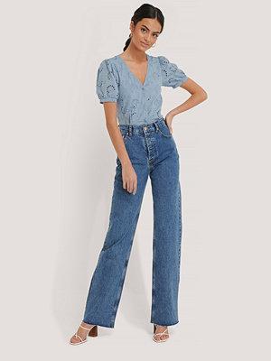 Jeans - Beyyoglu Raka Jeans Med Hög Midja blå