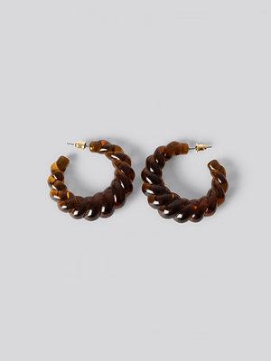 NA-KD Accessories smycke Hoops-Örhängen brun
