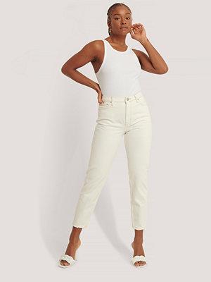 Jeans - Mango Mom-Jeans Med Hög Midja vit