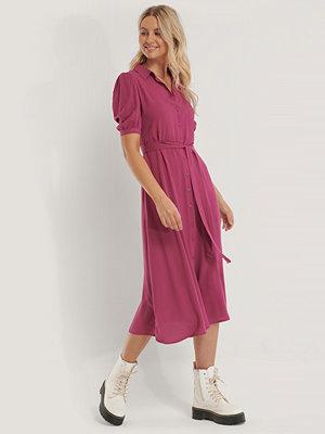 Trendyol Midiskjortklänning Med Bälte lila