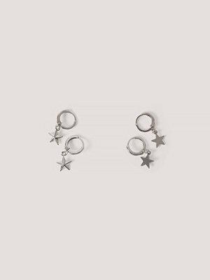 NA-KD Accessories smycke Mini Star Pendant Earrings (2-pack) silver