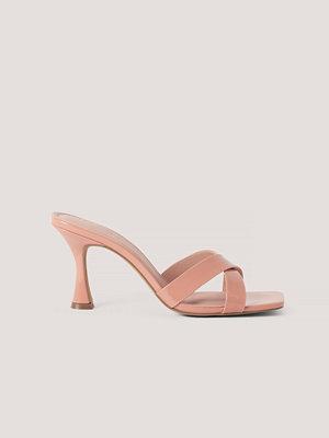 NA-KD Shoes Stilettmules Med Fyrkantig Tå rosa