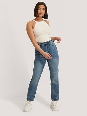 Trendyol Mom-Jeans Med Hög Midja blå
