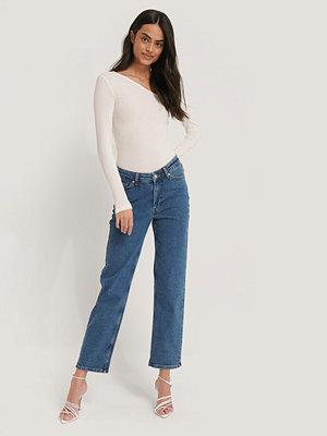 Jeans - NA-KD Denim Med Raka Ben blå
