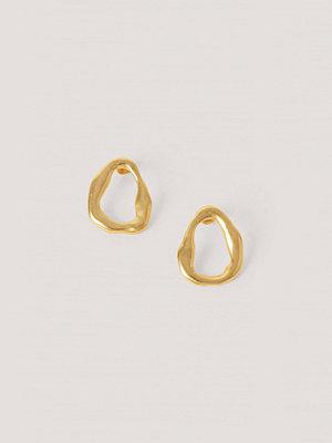 Mango smycke Ojämna Vågformade Örhängen guld