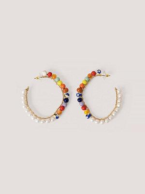 Mango smycke Ovala Hoops-Örhängen Med Pärlor multicolor
