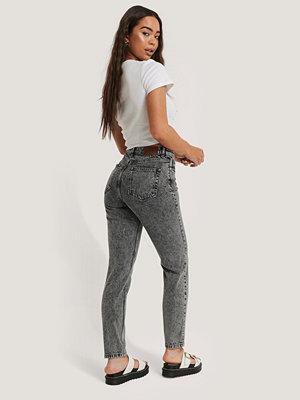 Jeans - NA-KD Slim Denim Med Hög Midja grå