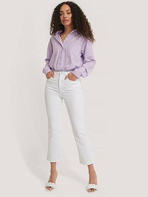 NA-KD Utsvängda Jeans I Skinny Modell vit