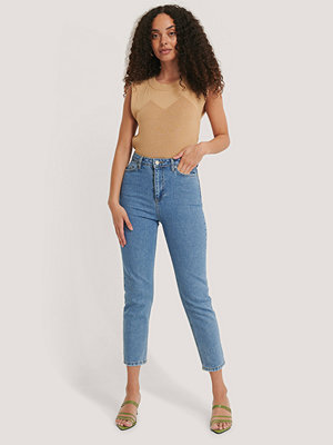 Jeans - Trendyol Mom-Jeans Med Hög Midja blå