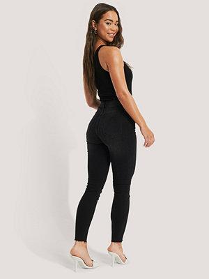 Abrand Skinny Jeans Med Hög Midja svart