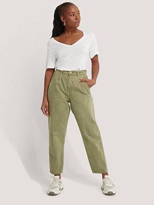 Mango Jeans Med Hög Midja grön