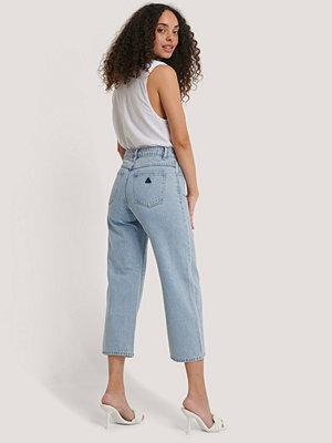 Jeans - Abrand A Street Aline Crop Jeans blå