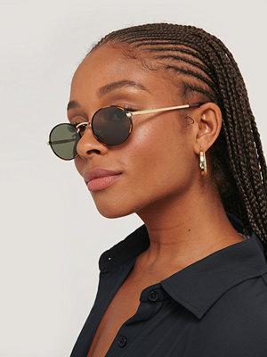 Le Specs Runda Solglasögon brun