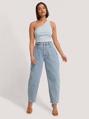 Jeans - Trendyol Ballongjeans Med Hög Midja blå
