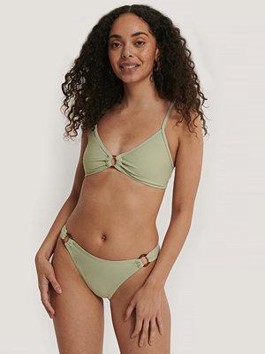 NA-KD Swimwear Bikiniunderdel Med Hög Midja Och Ringdetalj grön