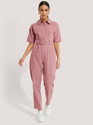 Jumpsuits & playsuits - Trendyol Jumpsuit Med Bälte rosa