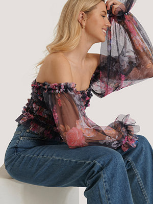 Trendyol Off Shoulder-Blus multicolor