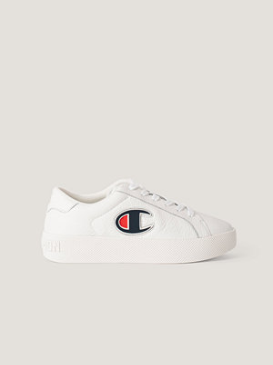 Champion Lädersneakers vit