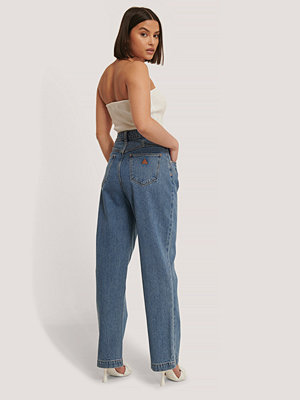 Jeans - Abrand Avsmalnande Byxor blå