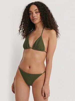 NA-KD Swimwear Trekantstrosa grön