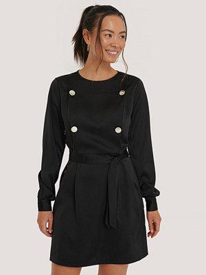 NA-KD Classic Miniklänning Med Knytning I Midjan svart