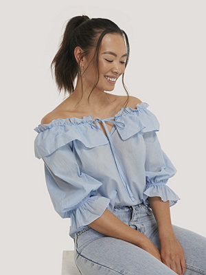Trendyol Off Shoulder-Blus blå