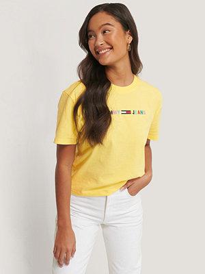 Tommy Jeans T-Shirt Med Logga gul