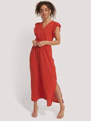 Trendyol Midiklänning Med Vid Ärm röd