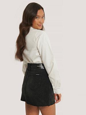 Calvin Klein Minikjol Med Medelhög Midja svart