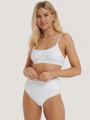 Bikini - NA-KD Swimwear Bikinitrosa Med Hög Midja vit