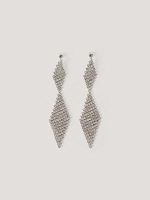 NA-KD Accessories smycke Örhängen Med Strasskedjor silver