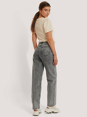 NA-KD Trend Wide Leg Denim grå