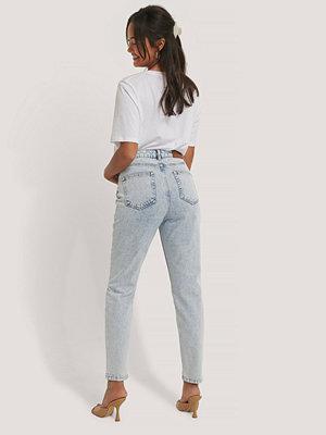 Jeans - NA-KD Slim Denim Med Hög Midja blå