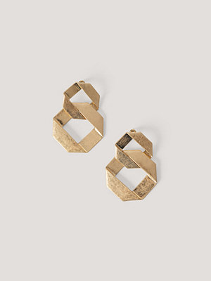 NA-KD Accessories smycke Guldpläterade Örhängen Med Struktur guld