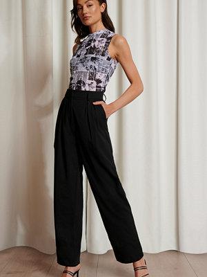 Emma Ellingsen x NA-KD Oversize Kostymbyxor svart svarta