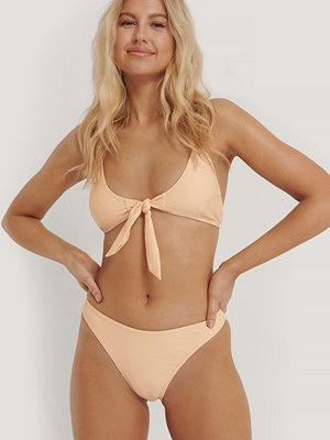 NA-KD Swimwear Högt Skuren Bikinitrosa orange