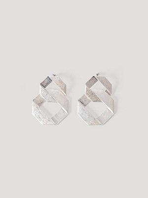 NA-KD Accessories smycke Guldpläterade Örhängen Med Struktur silver