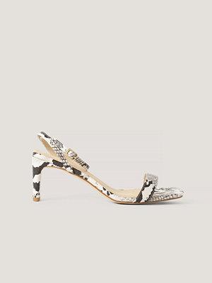 NA-KD Shoes Snake Basic Block Heel Sandals multicolor