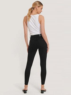 Jeans - Calvin Klein Superskinny Ankeljeans Med Hög Midja svart