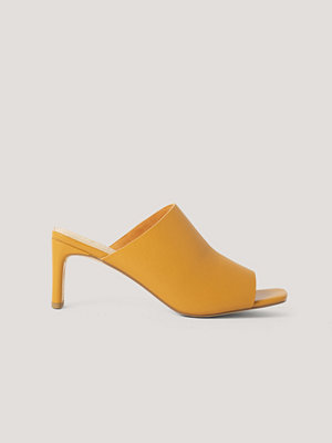 NA-KD Shoes Mules Med Fyrkantig Klack orange