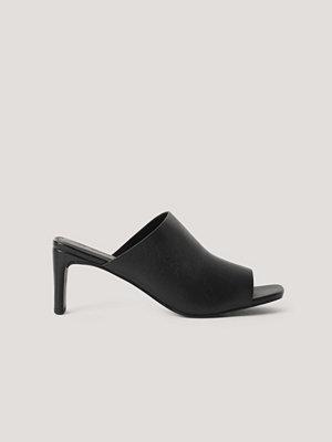 Pumps & klackskor - NA-KD Shoes Mules Med Fyrkantig Klack svart