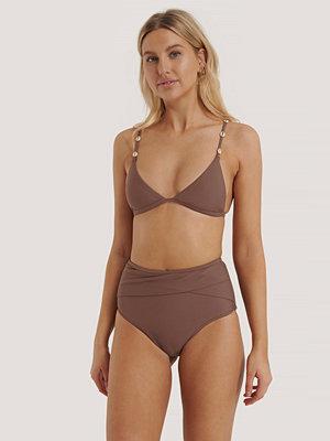 NA-KD Swimwear Bikinitrosa Med Hög Midja lila