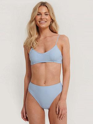 NA-KD Swimwear Maxitrosa Med Hög Midja blå