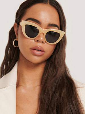 NA-KD Accessories Chunky Pointy Cat Eye Sunglasses beige