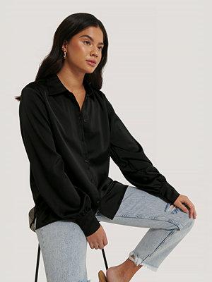 NA-KD Skjorta Med Ballongärm svart