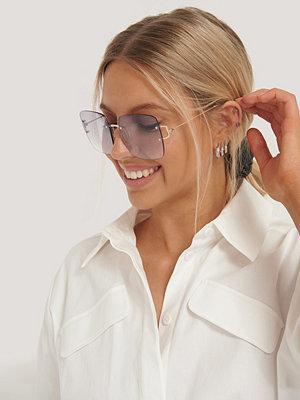 NA-KD Accessories Oversize Fyrkantiga Retrosolglasögon lila